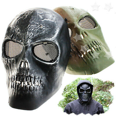 Skull Skeleton BB Gun Army Paintball Full Face Airsoft Game Safe Protect Mask