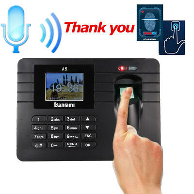 Time Recorder Machine Fingerprint+ Password Clocking Attendance Check  In Clock