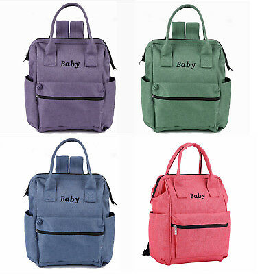 Multifunctional Mummy Baby Diaper Nappy Changing Bags Backpack Handbag 048