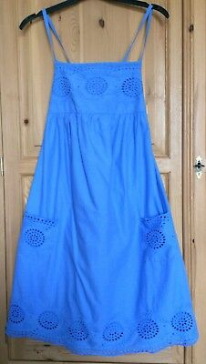 Girl's MINI BODEN A-line sundress Royal blue Cross over Strappy Age 13/14