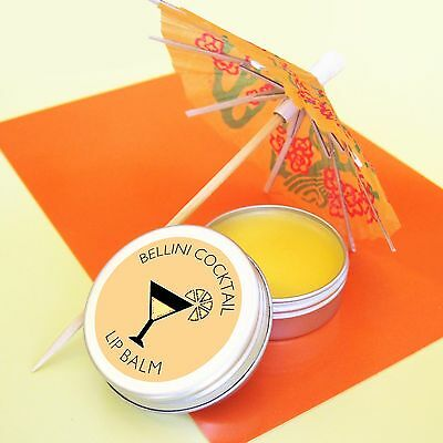 Prosecco Peach Bellini Lip Balm, Wedding Favour, Gift For Her, Hen Party Favour