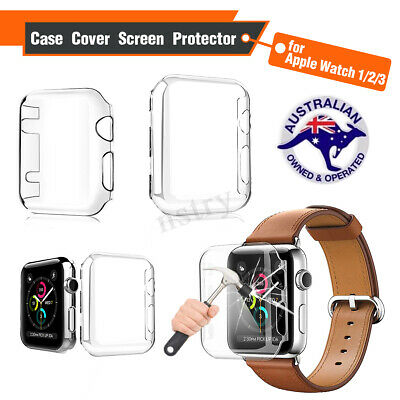 For Apple Watch Series 3 Clear Screen Protector 38mm/ 42mm Ultra Full Case Cover