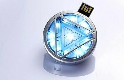 Iron Man 3 USB Flash Drive 2.0 ARC Reactor Avengers LED Light 4 GB 8 GB 16 GB