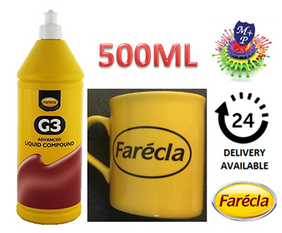 Farecla G3 Advanced Liquid Compound 500ml Bottle Car Polishing + Farecla Mug
