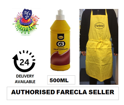 Farecla G3 Advanced Liquid 500ml Bottle Car Polishing + Farecla Apron