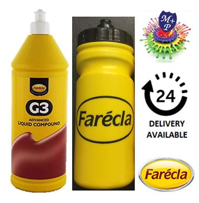 Farecla G3 Advanced Liquid 500ml Bottle Car Polishing + Sports Bottle