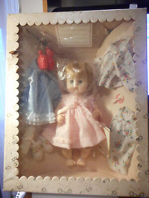 "Madame Alexander Sweet Tears Baby Doll Gift Set 13"" Tall Blonde In Original Box"