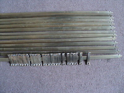 Beautiful Vintage Set Of 14 Brass  Stair Rods And 28 Brackets