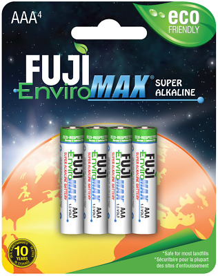 AAA Batteries Fuji EnviroMax Super Alkaline 1.5V Eco Friendly Pack Of 4
