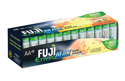 AA Batteries Fuji EnviroMax Super Alkaline 1.5V Eco Friendly Pack Of 48