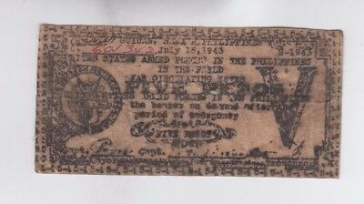 Philippines Paper Money one old note fine
