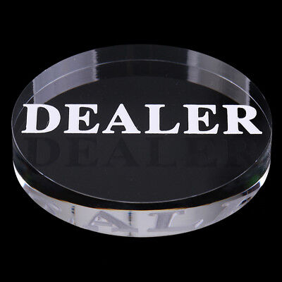 Acrylic Transparent Poker Dealer Button for Poker Card Game Casino Game 56mm
