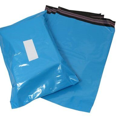 "50 x Blue Mailing Postage Bags 10 x 11"" - Quality Resealable 70 microns Thick"