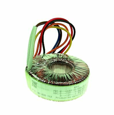 2x18V 225VA Toroidal Transformer Dual Primary Secondary Windings Thermal Fuse UL