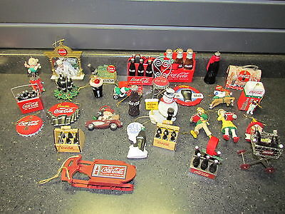 Lots Of 29 Coca Cola Christmas Ornaments