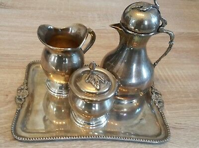 Egyptian, Islamic, Arabic Antique Sterling Silver Coffee or tea service set
