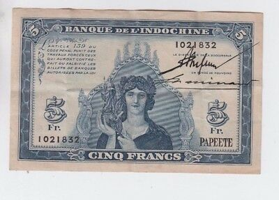 New Caledonia Paper Money one old note fine-vf