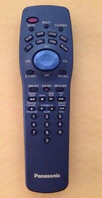 Panasonic Eur511170B Programmable Tv Dvd Vcr Cable Receiver Remote Control