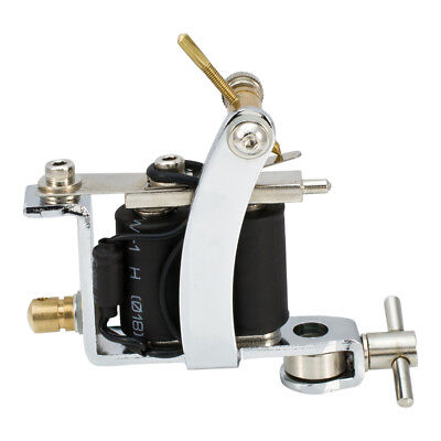 Stainless STEEL Shader Liner Tattoo Machine Gun Kit 2A