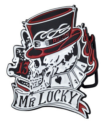 Mr Lucky Skull & Top Hat Belt Buckle Lucky 13 Tattoo Cool Hip Metal Unique