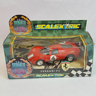 vintage Scalextric C096 Ferrari P4 the Power and the Glory Slotcar 1/32 TOP OVP