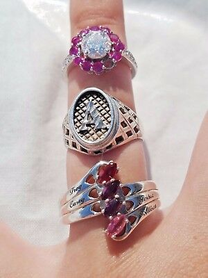 Lot of Vintage Sterling Silver Rings, Scrap/Repair Jewelry, Marquise Stones,Band
