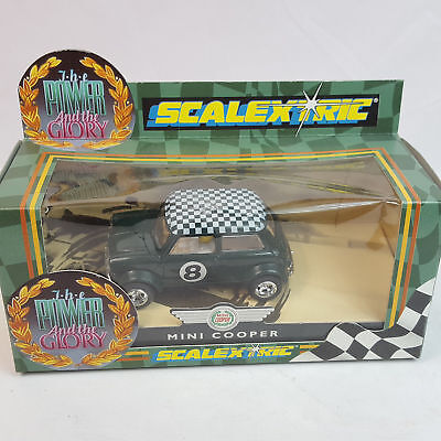 vintage Scalextric C099 Mini Cooper the Power and the Glory Slotcar 1/32 TOP OVP