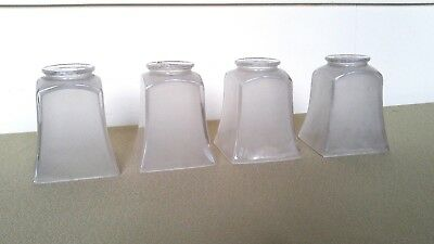 4 Mission Arts & Crafts Glass Shades For Light Fixture Chandelier Jefferson Co