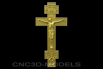3D Model STL for CNC Router Engraver Carving Artcam Aspire Religion Cross v425