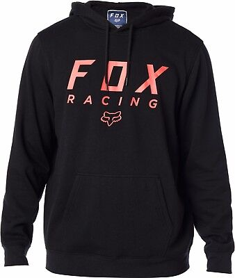 New Fox Racing All Day Pullover Fleece Hoody - Black / Red