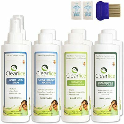 ClearLice Natural Head Lice Treatment Kit (Family Size).