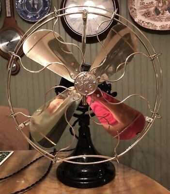 """Antique 1910 GE BMY 16"""" BB/BC General Electric Fan RESTORED"""