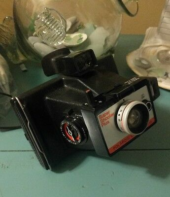 Vintage Polaroid Super Shooter Plus Land Camera With Timer, Includes Case/Instru