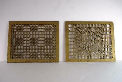 2 Cast Iron Victorian Heater Grates For Wall Or Floor Excellent Condition Orig