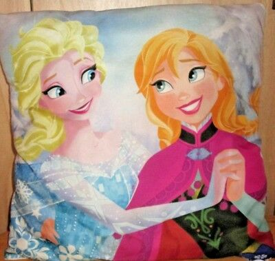 "Disney Frozen Anna Elsa Olaf  Cushion  40X40 Cm 15""x15"""