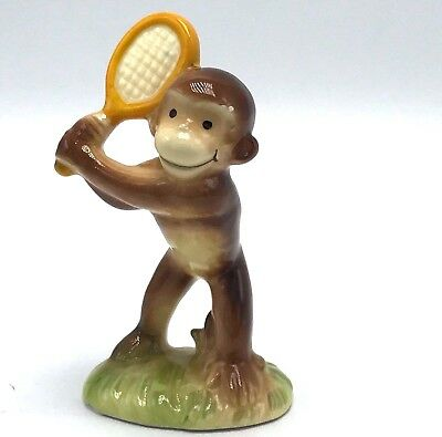 "Vintage Gorham Curious George Tennis 4"" Figurine 1981 Margaret E Rey Japan"