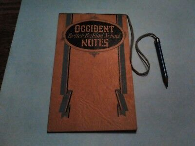 Occident Flour 1929 Notebook with Pencil Minneapolis Minnesota