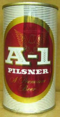 A-1 PILSNER BEER, ss RED Flat Top CAN, Arizona Brewing Co., Phoenix, AZ 1956