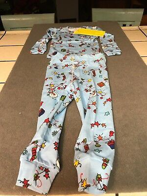 New With Tags At Home Christmas Snowman  2 Piece Pajamas Size 7 100% Cotton