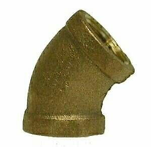 "1"" Brass 45 Degree FPT"