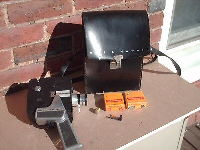 Vintage Bell & Howell Zoom Reflex Autoload 8mm Movie Camera 202? Untested old