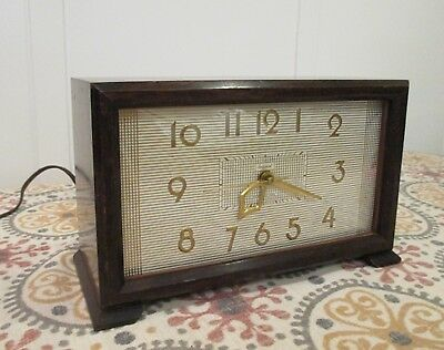 Vintage IMPERIAL electric CLOCK WESTMINSTER CHIME Works good