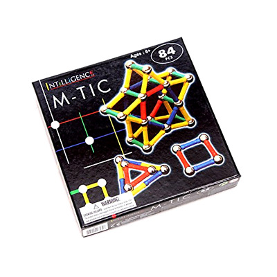 3D Toys for Kids 84 Piece Magnetic Blocks Magnetic Building Set Blocks Stacking