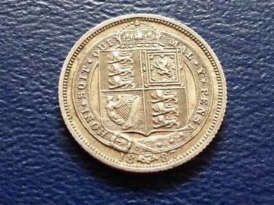 Queen Victoria Sterling Silver Sixpence 1887 Withdrawn Type Great Britain Uk