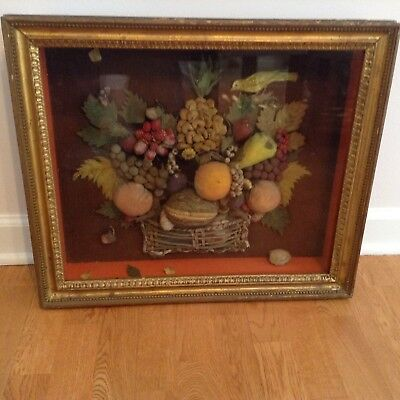 antique shadow box picture
