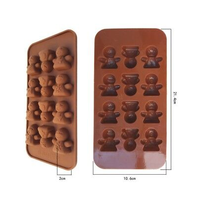 DIY Cake Doll Expression Baked Silicone Jelly Chocolate Molds