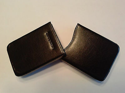 Barrington Executive Leather Business Card Case Harness Black with Gift Box NEW