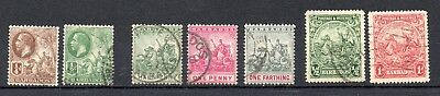 Barbados 7 old Stamps British Commonwealth