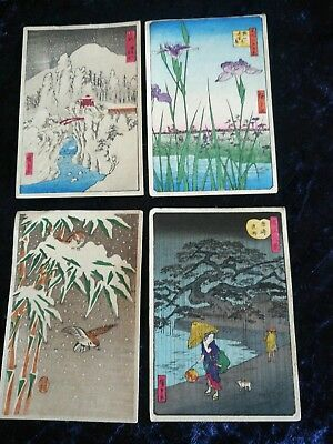 Japanese woodblock prints on paper.