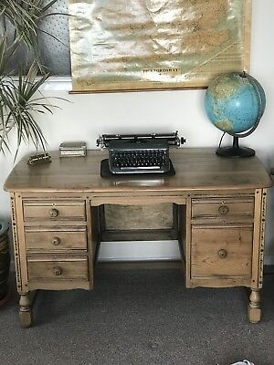 Ercol Golden Dawn Double Pedestal Desk Home office Lockable Drawers Solid